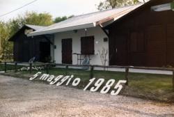 La baita nel 1985 - sede Ana di Lignano